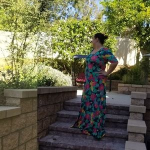 LuLaRoe Ana Hawaiian Maxi dress size XL